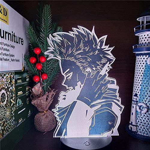 Lámpara de ilusión 3D Anime MY HERO ACADEMIA HITOSHI SHINSO 3D ANIME Luces de noche Lampara Boku no Hero Academia 7 colores Lámpara de mesa que cambia de color