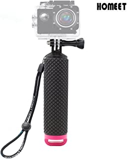 Homeet Palo Flotante Selfie Grib Flotador Empuñadura Deporte Acuático Monopod de Buceo para GoPro Hero 5/4/3+/3 Session SJCAM /Garmin Virb XE/Xiaomi Yi/DBPOWER (Rojo)