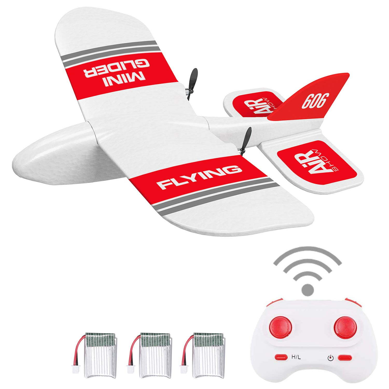 Color: Rojo Z50 2.4G 2CH 350mm Micro envergadura Control remoto RC Planeador Avi/ón Avi/ón Ala fija EPP Drone con Gyro incorporado para ni/ños