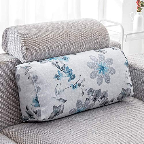 Screenes Zhaoshunli Kids Coussin Lombaire Maison Textile Tissu Lin Rectangle 65 Simple Style * 29 * 17 Cm (Couleur Fleur Langue Bleu) (Color : 1 Blue, Size : Size)