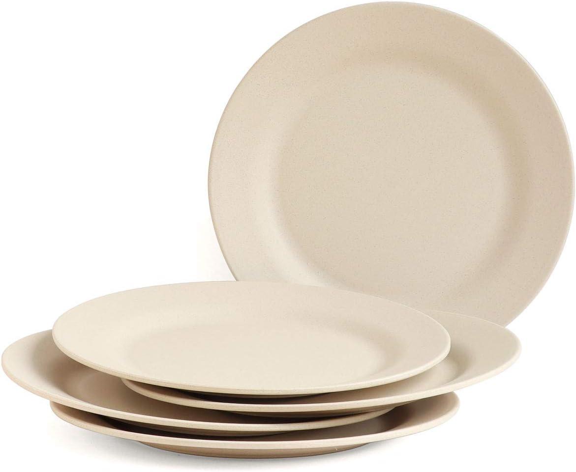 Max 71% OFF JUCOXO Wheat Straw Dinner Plates Set Unbreakable Alternative dealer 5 11'' Pack Bi
