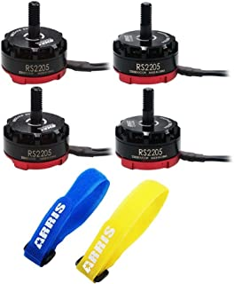 EMAX Cooling RS2205 RaceSpec 2205 2300KV Brushless Motor for FPV 250 RC Quadcopter (2CW + 2CCW) Free ARRIS Straps