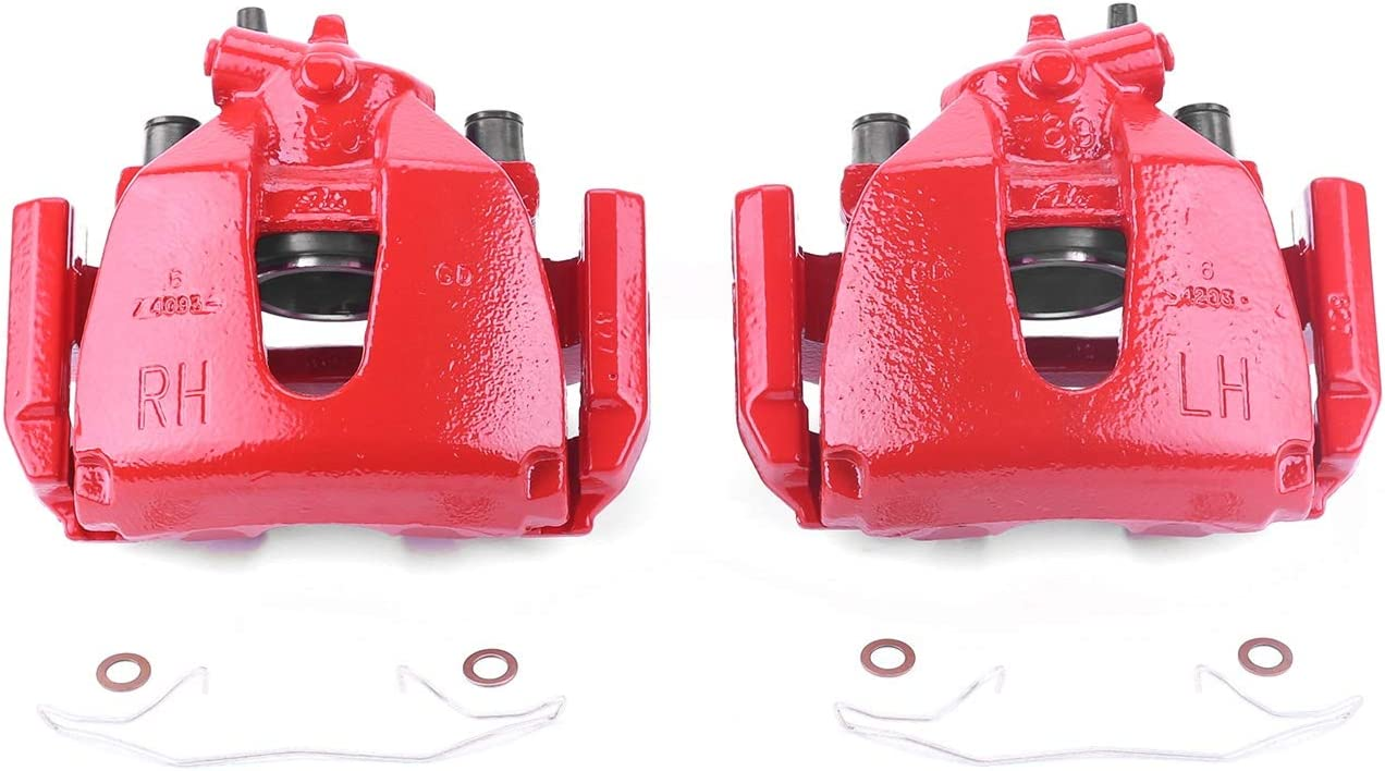 Power Stop S4948 Performance Manufacturer regenerated product Front P Coated Powder Caliper Brake Omaha Mall
