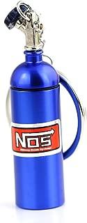 Maycom Creative New NOS Mini Nitrous Oxide Bottle Keyring Key Chain Ring Keyfob Stash Pill Box Storage Turbo Keychain (Blue 6cm Height)