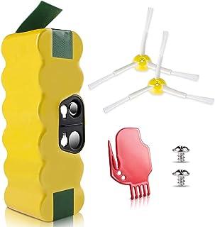 morpilot Batería de Reemplazo para iRobot Roomba, 4050mAh Ni-MH Batería Compatible con iRobot Roomba Series 500 600 700 800 900 con Accesorios de Cepillos y Atornillos