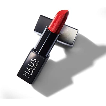 HAUS LABORATORIES By Lady Gaga: SPARKLE LIPSTICK   Red, Long Lasting Universal Lipstick, Full-Coverage Lip Color, Vegan & Cruelty-Free   0.12 Oz