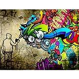 Fototapete Graffiti Streetart 396 x 280 cm Vlies Wand Tapete Wohnzimmer Schlafzimmer Büro Flur Dekoration Wandbilder XXL Moderne Wanddeko - 100% MADE IN GERMANY - Runa Tapeten 9066012a