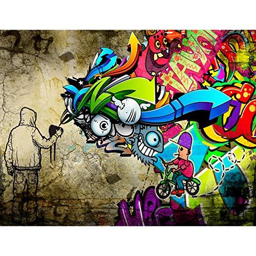 Fototapeten 396 x 280 cm Graffiti Streetart | Vlies Wanddekoration Wohnzimmer Schlafzimmer | Deutsche Manufaktur | Bunt 9066012a