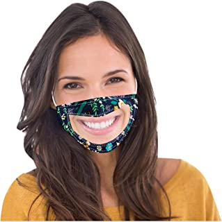 Adult Transparent Face Coverings with Clear Window Visible Expression for Deaf and Hard of Hearing