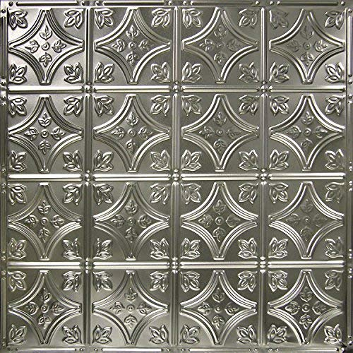 """American Tin Ceilings Nail Up Kit, Pattern #3, 5 Pack (24"""" x 24"""", Unfinished)"""