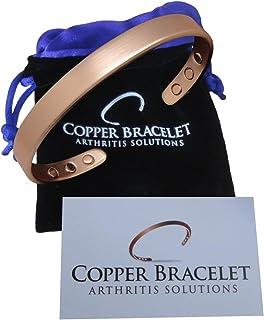 Copper Bracelet for Arthritis – Guaranteed 99.9% Pure Copper Magnetic Bracelet Men..