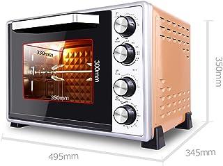 ZJJL Mini horno eléctrico de 40L con control de temperatura de precisión 100-250 ° C y 0-60Min Timing 1500W Aire caliente multifunción de tres capas con horno de iluminación