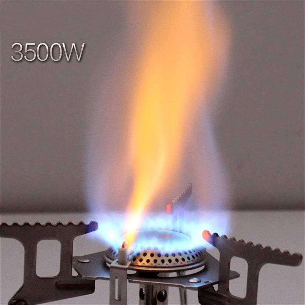 Sbeautli Plegable Estufa de Camping Gas con el piezoelemento ...