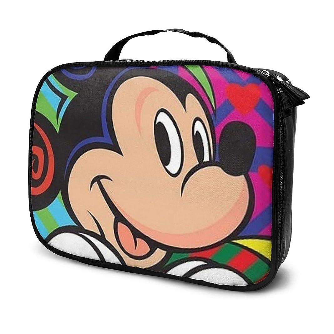 傷つける余分な新しさDaituミッキーマウス 化粧品袋の女性旅行バッグ収納大容量防水アクセサリー旅行