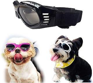 26f84cfe57 SymbolLife Gafas de Sol para Perros Perro Gafas para Perros pequeños y  medianos Impermeable Plegable Protector