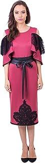Opera Crepe Straight Dress for Women, Pink - 1712197