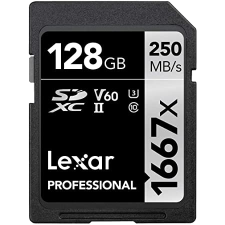 Lexar Professional 1667x 128GB SDXC UHS-II Card, Up To 250MB/s Read, for Professional Photographer, Videographer, Enthusiast (LSD128CBNA1667)
