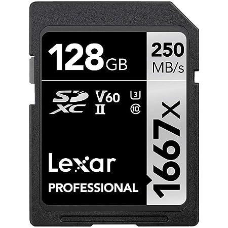 Lexar Professional 1667X 128GB SDXC Uhs-II/U3 Card (LSD128CBNA1667) , Black