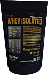 Whey Isolated PROPT 2kg 100% profesional, proteina isolada, sabor vainilla
