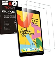 """TECHGEAR 2 Pack of iPad 10.2"""" 2019 GLASS Edition Screen Protectors, Tempered Glass Screen Protectors [2.5D Edge] [9H Hardness] [Crystal Clarity] [Scratch-Resistant] [No-Bubble] for iPad 7th Generation"""