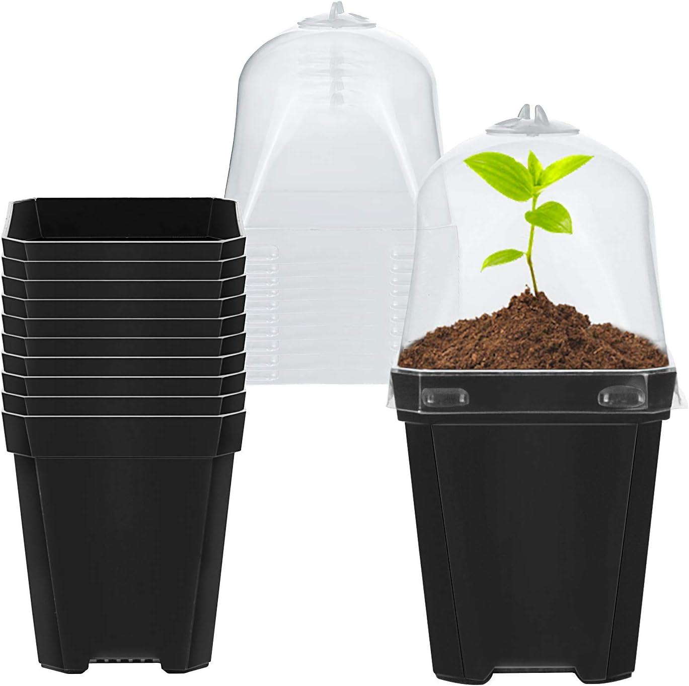 Jitnetiy 10 Sets Plant Nursery Pots 3