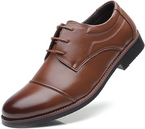 Z.L.F Oxford Schuhe Herren Smoking Kleid Schuhe Matte PU Leder Lace Up Atmungsaktiv Gefüttert Business Formale Schuhe (Farbe   Braun, Größe   11MUS)