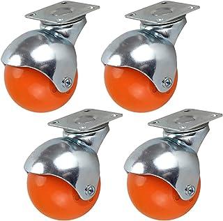 2 inch 50 mm meubels zwenkwielen, bal zwenkwielen, bewegende zwenkwielen, 360 graden;Draaibare wielen, trolleywielen in n...