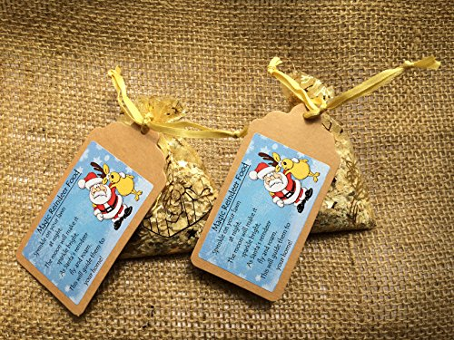 M&B Stix Pix 2 x Bags of Magical Handmade Reindeer food with Poem - A snack to leave for Rudolph and his friends on Christmas Eve - Gold! Wildlife friendly!!