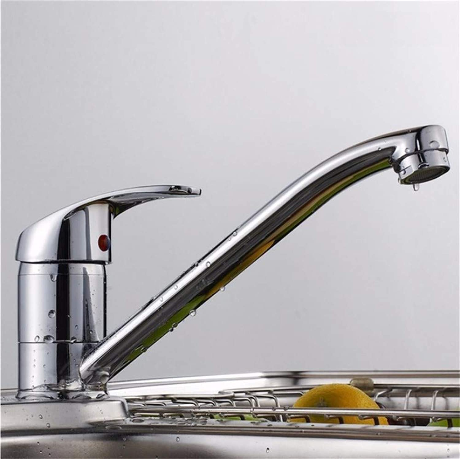 QWL-Faucet Kitchen faucet hot and cold sink faucet fine copper redatable faucet sink faucet single hole single handle long faucet