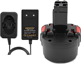 Shentec 9,6 V 3,5 Ah Ni-MH ersättningsbatteri för batteri Bosch PSR 960 BAT048 BAT100 BAT119 2607335272 2607335461 Gsr 9.6...