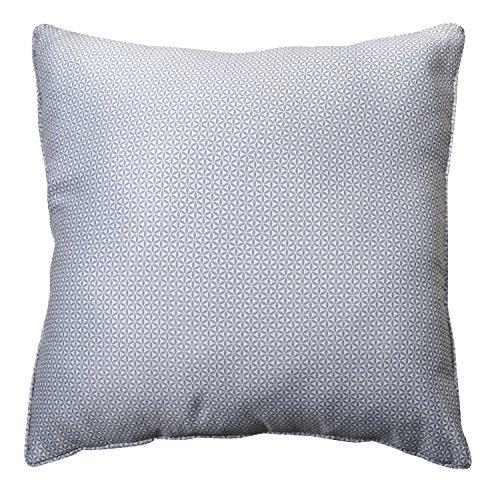 HomeMaison 891023 kussens, overtrek verwijderbaar, motief tegels van gebrand klei, polyester grijs, 1 x 60 cm