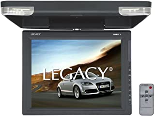 Legacy Flipdown Car Overehead Roof Mount -High Resolution All-in-one Display Monitor, HDMI & USB Input, Built-in FM & IR T...
