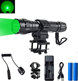 GRACETOP Green Light LED Coyote Hog Pig Varmint Predator Hunting Light Flashlight with Remote Pressure Switch
