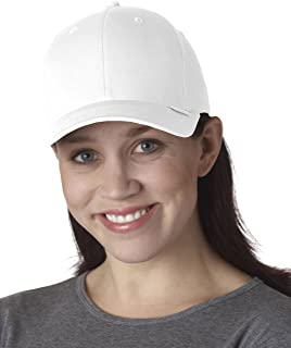 Yupoong V-Flexfit Constructed Mid-Profile Cotton Twill Cap, White, L/XL