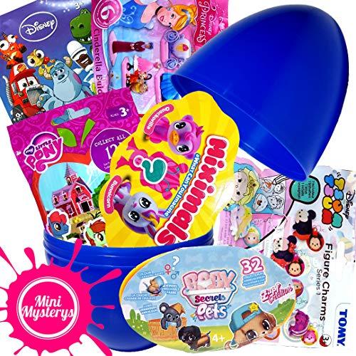 Mini Mysterys Surprise Huevo de Juguete de Regalo con miximales, bebé Secrets Pets, Disney Mystery Packs