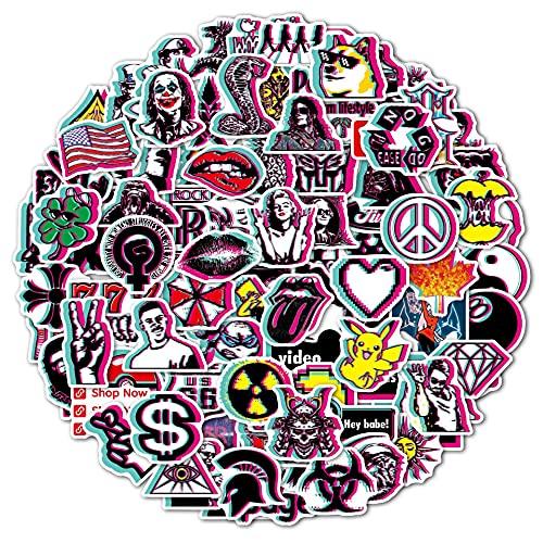 XXCKA 200 Pegatinas de Graffiti, Maleta de Equipaje, Guitarra, monopatín, Ordenador, Juguetes para niños, Pegatinas Impermeables Personalizadas