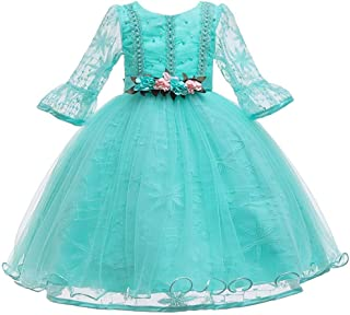 Cocaker Girl Dresses Floral Tulle Kids Party Christening Birthday Dress for Girl Gown Infant Baptism Wedding Gowns