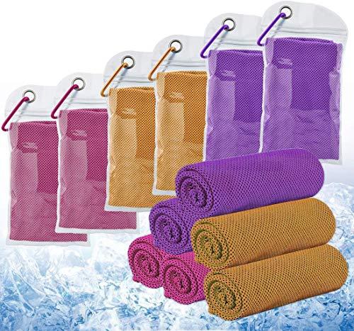 6 toallas de refrigeración refrescante, efecto (100 x 30 cm)