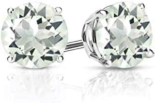 prasiolite stud earrings