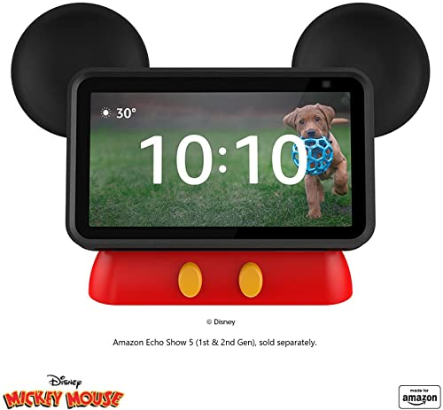All New Made for Amazon Disney Mickey Mouse-inspired Stand for Amazon Echo Show 5 Compatible with Echo Show 5 (1st and 2nd Gen)