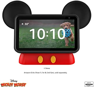 All New, Made for Amazon, Disney Mickey Mouse-inspired Stand for Amazon Echo Show 5 Compatible with Echo Show 5 (1st and 2...