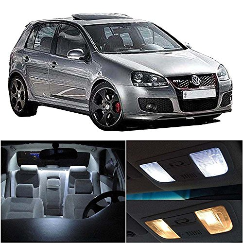 cciyu 11 Pack White LED Bulb Replacement fit for 1999-2005 VW Golf GTi R32 Mk4 LED Interior Lights Accessories Replacement Package Kit