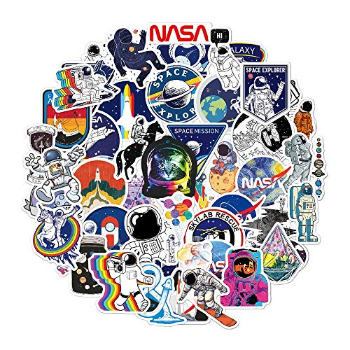 ZXXC 50Pcs/Pack Outer Space Astronaut Stickers Waterproof Pvc Skateboard Laptop Guitar Luggage Diy Cool Graffiti Sticker Toys