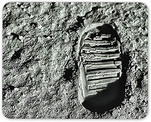 Mauspad, Mann auf dem Mond Erster Schritt Fußabdruck Mausmattenpad - NASA-Geschenkcomputer