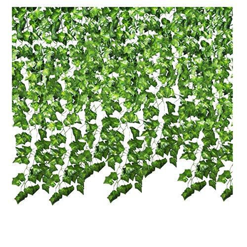 SMALUCK 8-pack 55 fot konstgjord murgröna girlang falska murgröna klätterväxt för bröllop girlang falska lövverk blommor hem kök trädgård kontor bröllop väggdekor
