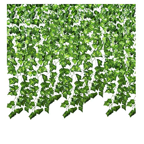SMALUCK 36 Pack 249Ft Artificial Ivy Garland Fake Ivy Vine Hanging Plant for Wedding Garland Fake Foliage Flowers Home Kitchen Garden Office Wedding Wall Decor