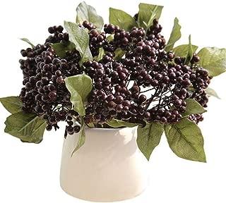 COLOV Christmas Berry Artificial Flower Home Party Artificial Flower Decoration(Deep Purple 8.66)