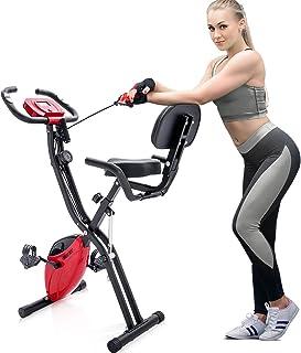 Merax 3 in 1 Adjustable Folding Exercise Bike Convertible Magnetic Upright Recumbent Bike..