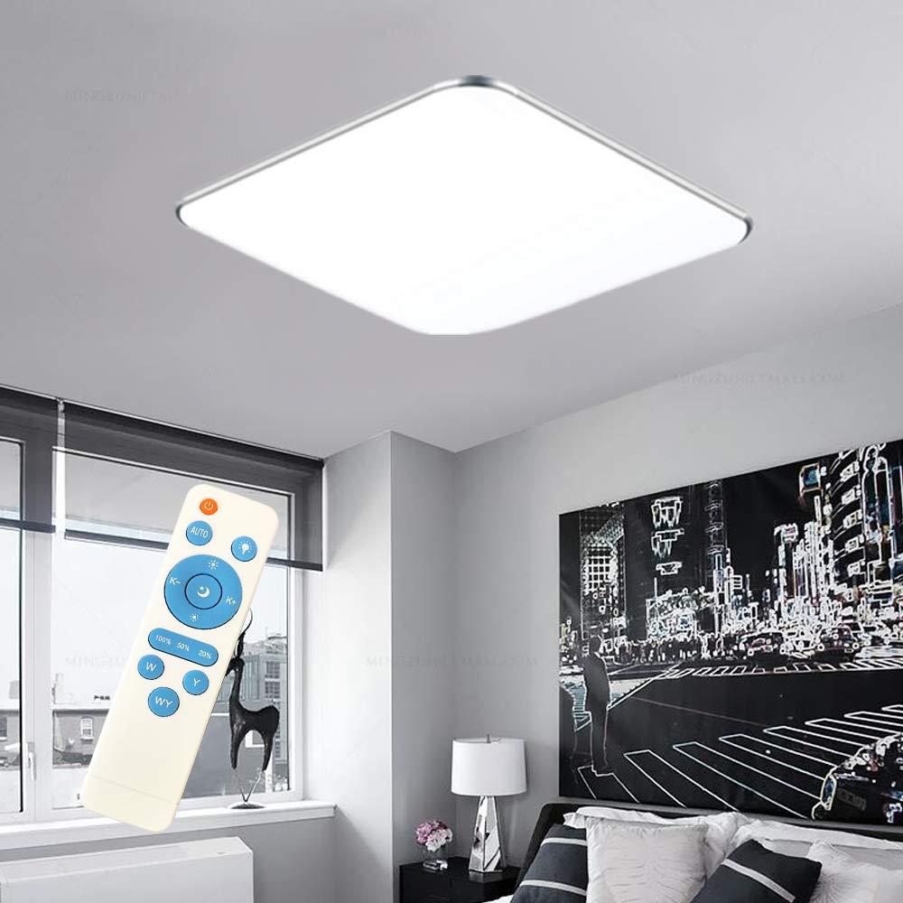 SAILUN 8W Dimmbar LED Modern Deckenleuchte Deckenlampe Flur Wohnzimmer  Lampe Schlafzimmer Küche Energie Sparen Licht Silber