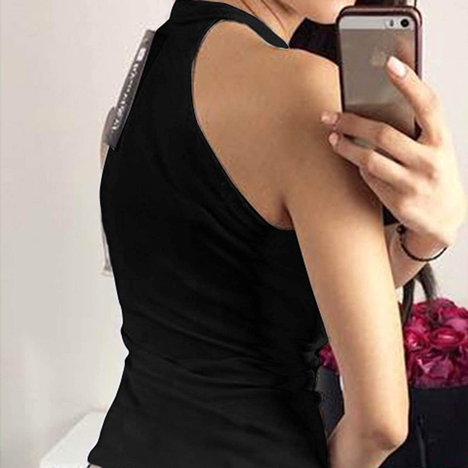 Women Cami Tops, Womens Sexy Tank Tops Lace Up Sleeveless Tees Shirt Casual Slim Fit Camisole Cami Shirts